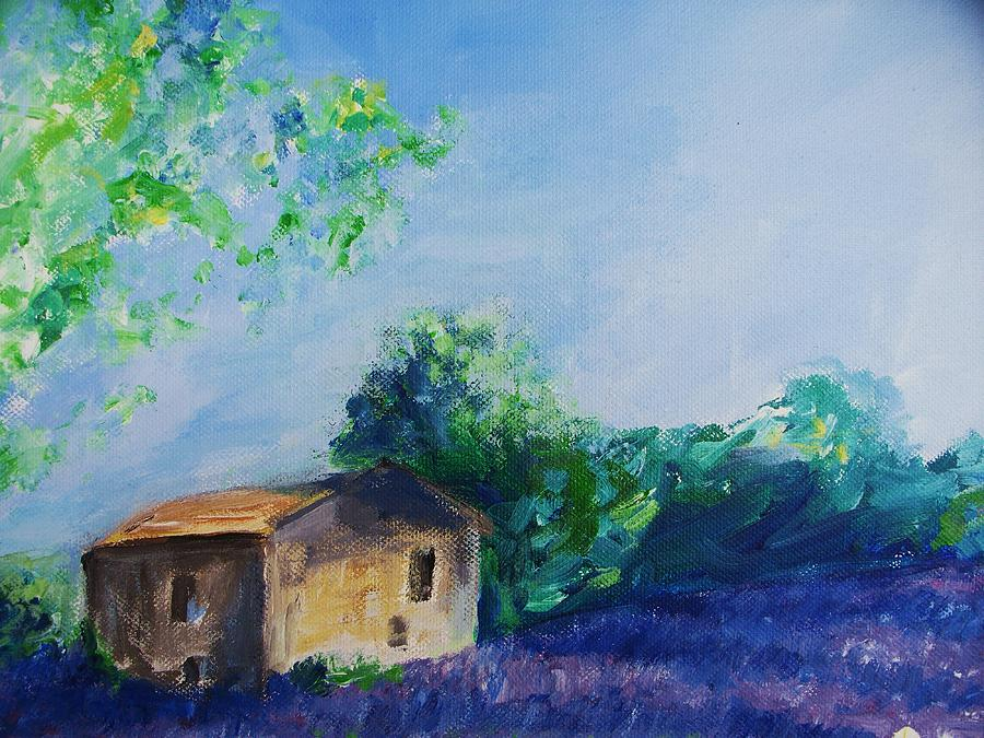 Provence Painting - Provence House by Eric  Schiabor