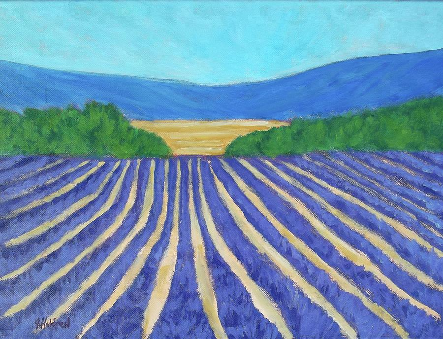 Provence Painting - Provence Lavender Field by Justin Holdren