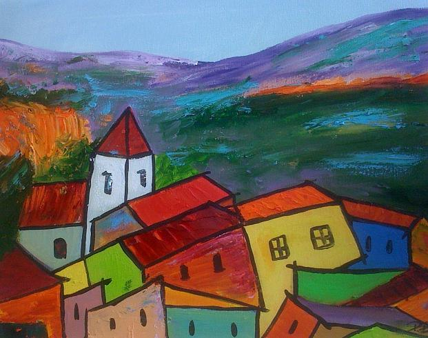 Provence Painting by Patrice Brunet