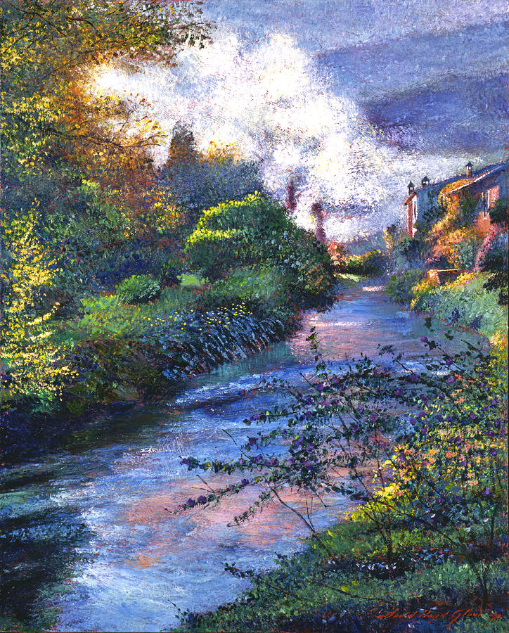 Impressionism Painting - Provence River by David Lloyd Glover