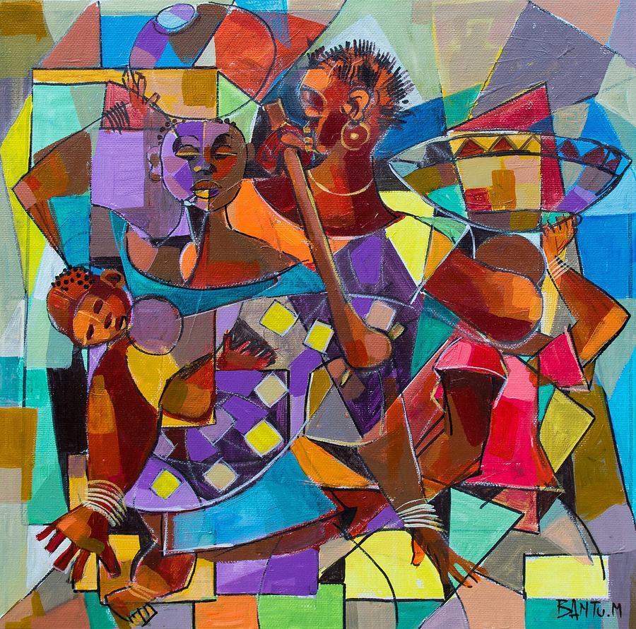 Zambia Painting - Provider by Bantu M