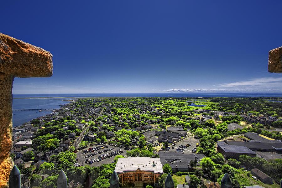 Provincetown Cape Cod Digital Art - Provincetown Panoramic Aerial by Dapixara Art
