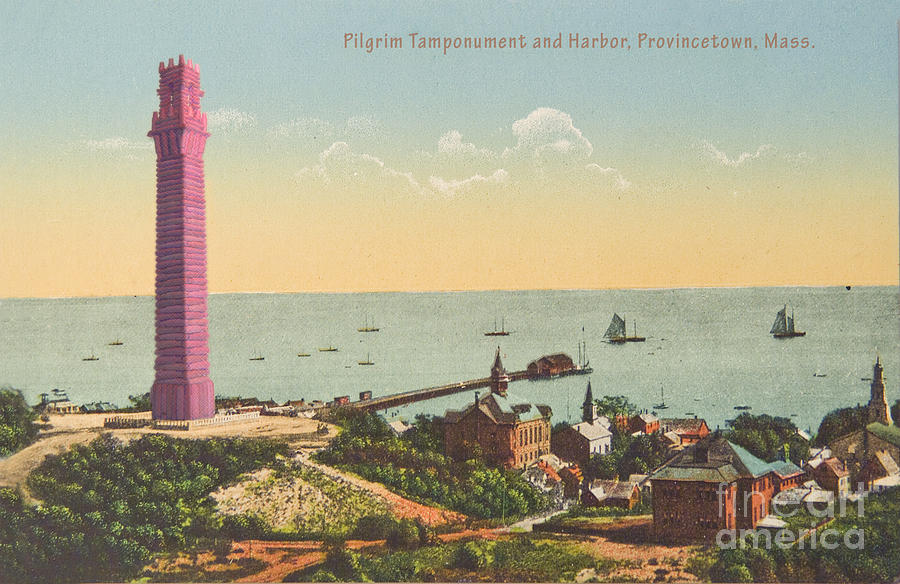 Provincetown Pilgrim Monument Painting by Celestial Images
