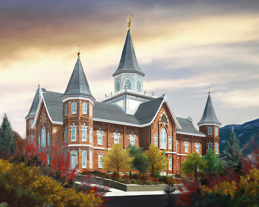 Provo Painting - Provo City Center Temple by Brent Borup