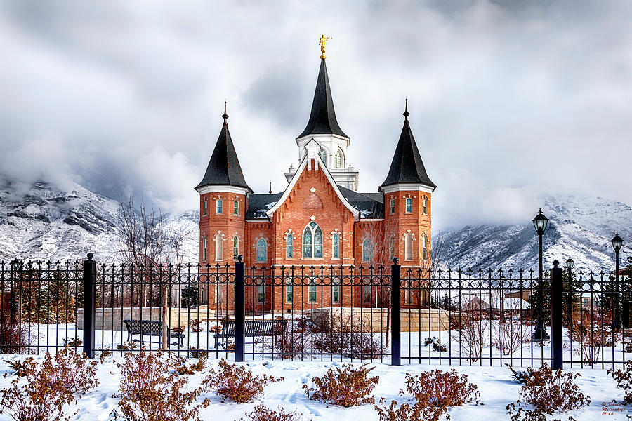 Provo City Center Temple Canvas Print, Photographic Print, Art Print, Framed Print, Greeting Card, by David Millenheft