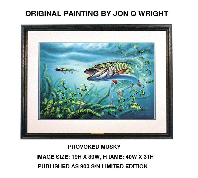 Jon Q Wright Painting - Provoked Musky by JQ Licensing