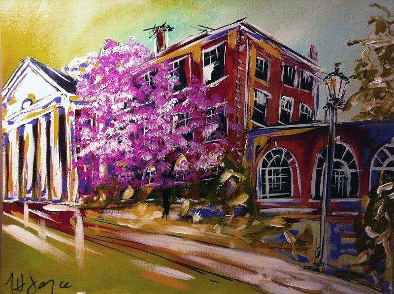 Chatham Hall Painting - Pruden Hall by Nancy Hilliard Joyce