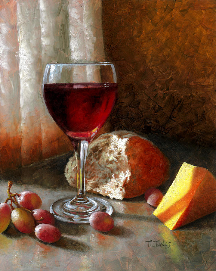 Wine Painting - Psalm 104 by Timothy Jones