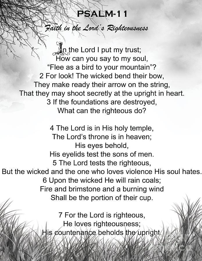 Psalm 11 Digital Art by Trilby Cole