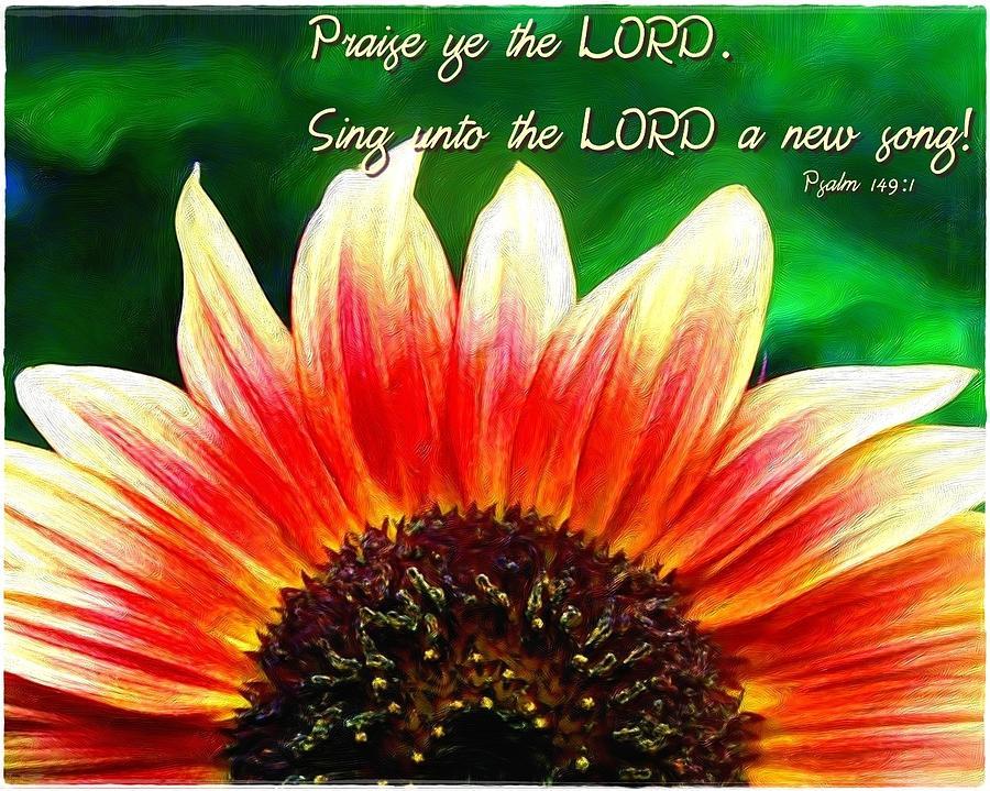Jesus Digital Art - Psalm 149 1 by Michelle Greene Wheeler
