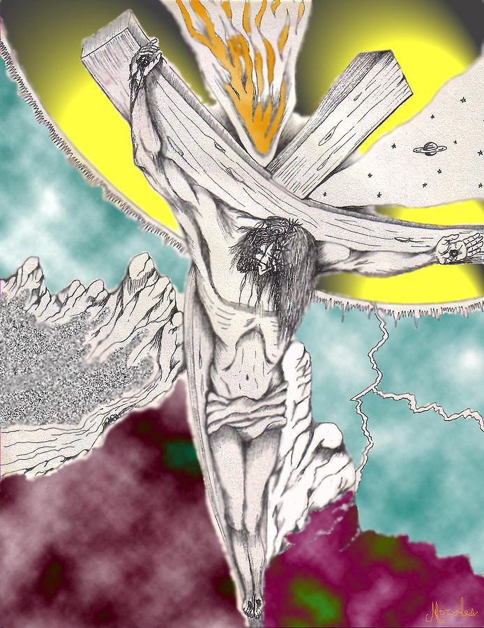 Spiritual Digital Art - Psalm 22 Ch 13-15... by Marco Morales