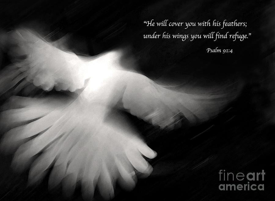 Bible Photograph - Psalm 91 by Glennis Siverson