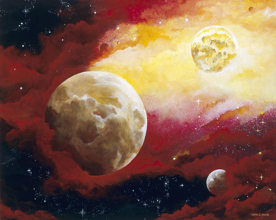 Space Painting - Psalm by Laura Swink