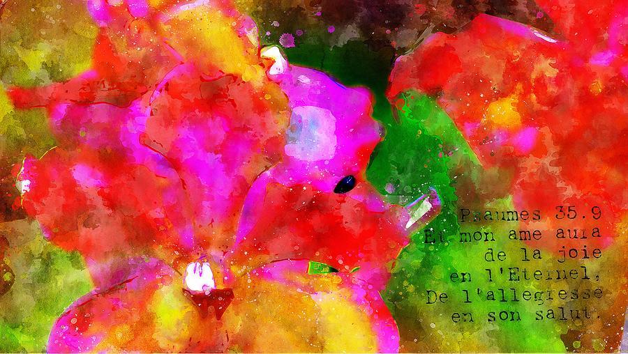 Jesus Digital Art - Psaumes 35-9 by Payet Emmanuel