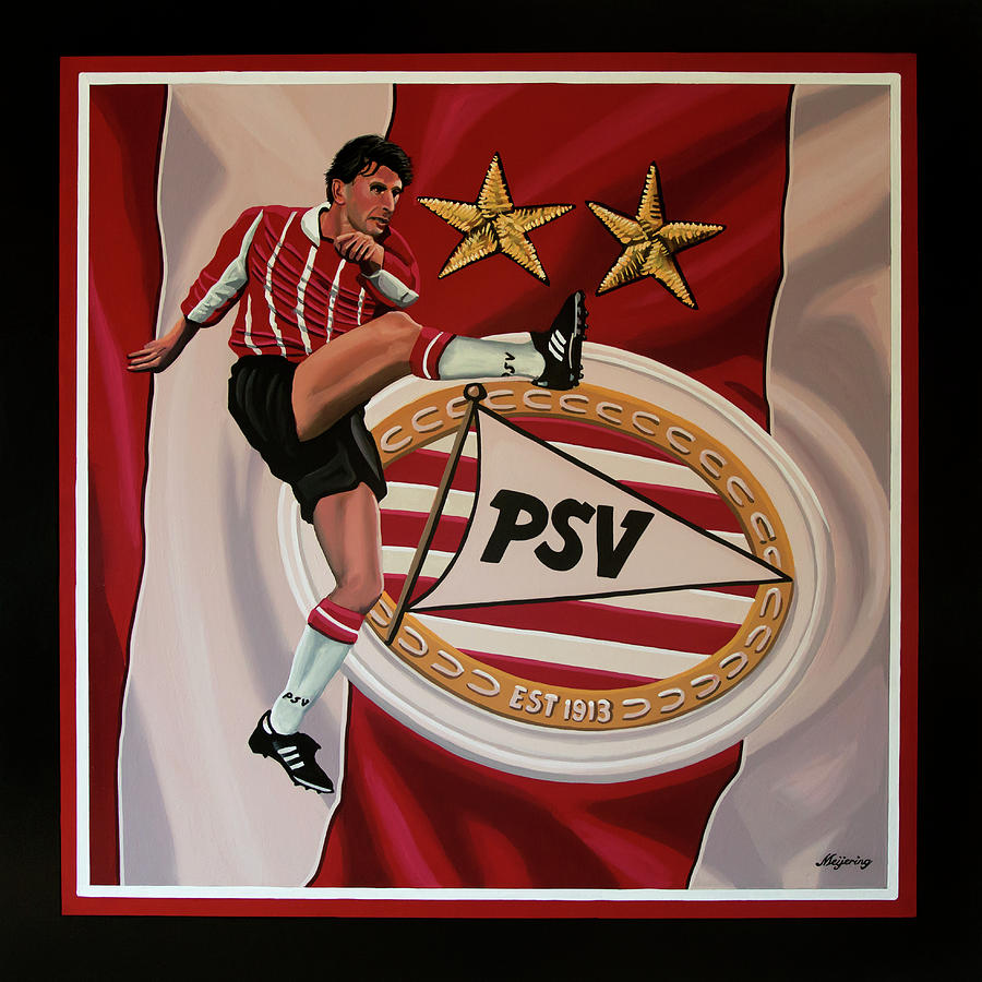 Psv Painting - Psv Eindhoven Painting by Paul Meijering