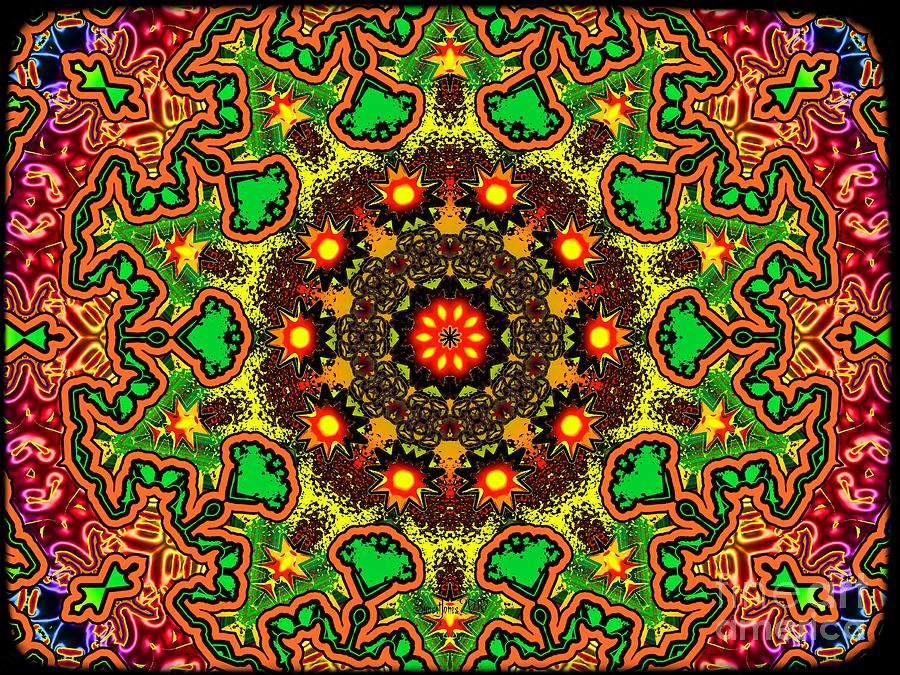 Psychadelic Digital Art - Psych by Robert Orinski