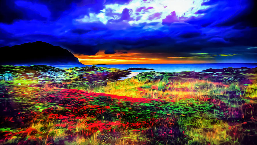 Psychedelic Beach Sunset Photograph By Ron Fleishman
