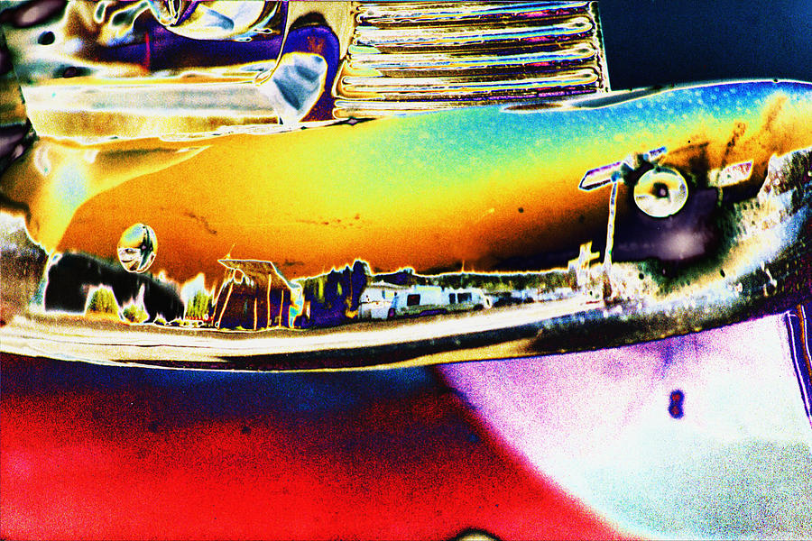 Chevrolet Photograph - Psychedelic Chevy Bumper by Richard Henne