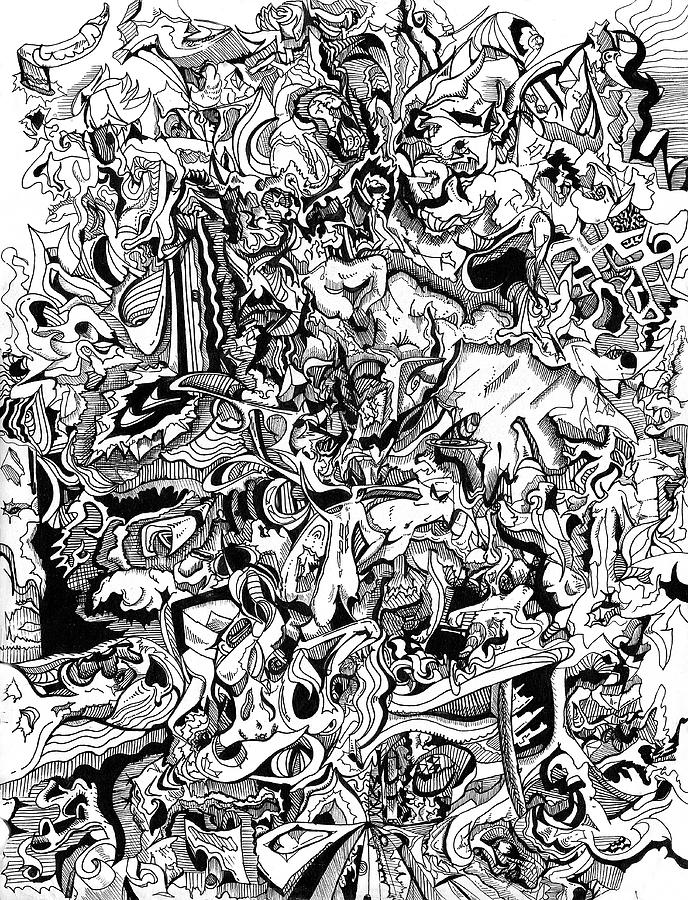 Psychedelic Drawing Drawing By Joe Michelli