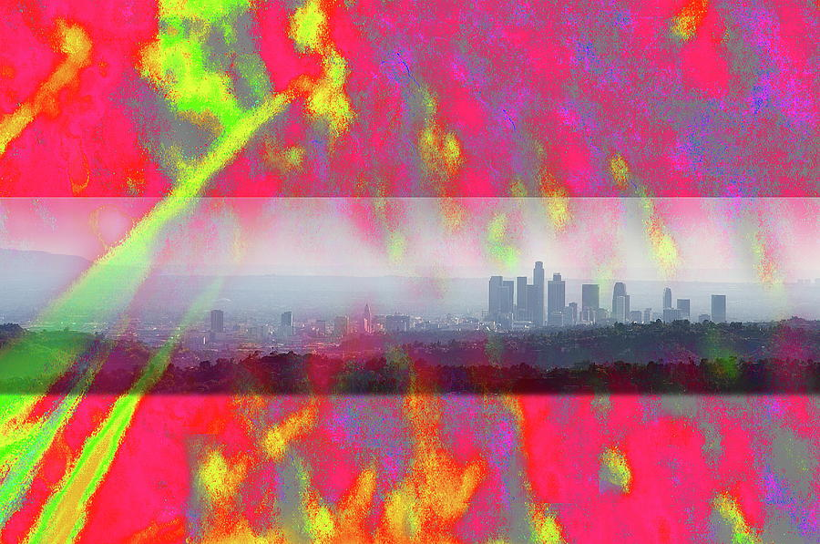 Psychedelic Photograph - psychedelic energy of Los Angeles by Viktor Savchenko