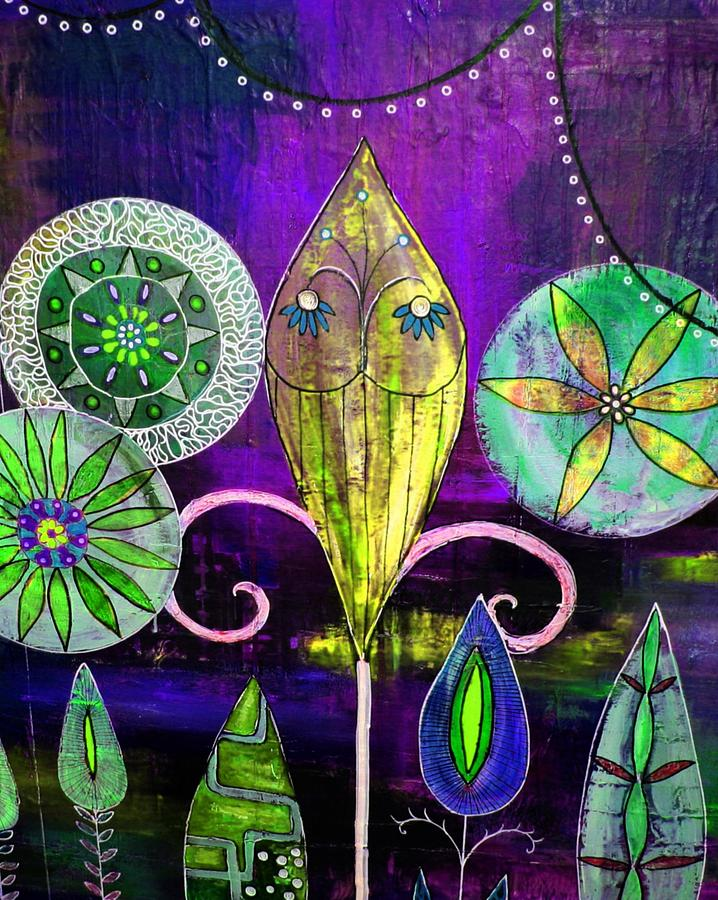 Flowers Painting - Psychedelic Garden 2 by Rick Cheadle
