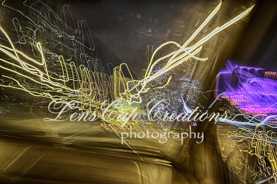 Moving Lights Photograph - Psychedelic Lights On Slow Speed by Joe Crowe