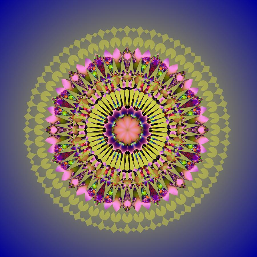 Psychedelic Mandala 001 A by Larry Capra