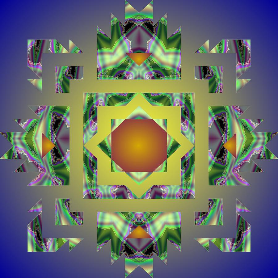 Psychedelic Mandala 002 A by Larry Capra