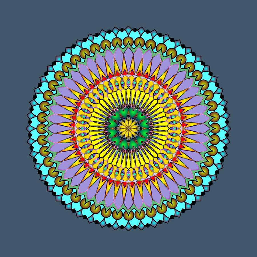 Psychedelic Mandala 005 A by Larry Capra