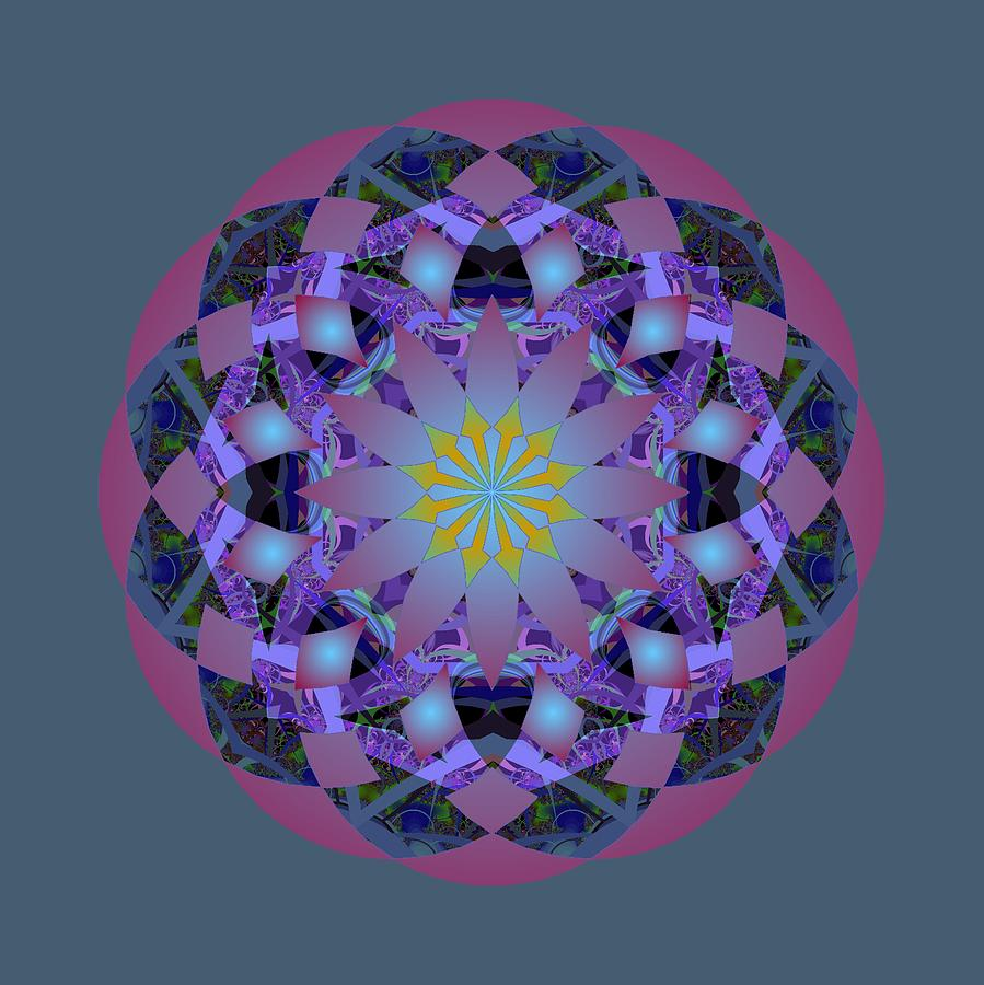 Psychedelic Mandala 006 A by Larry Capra
