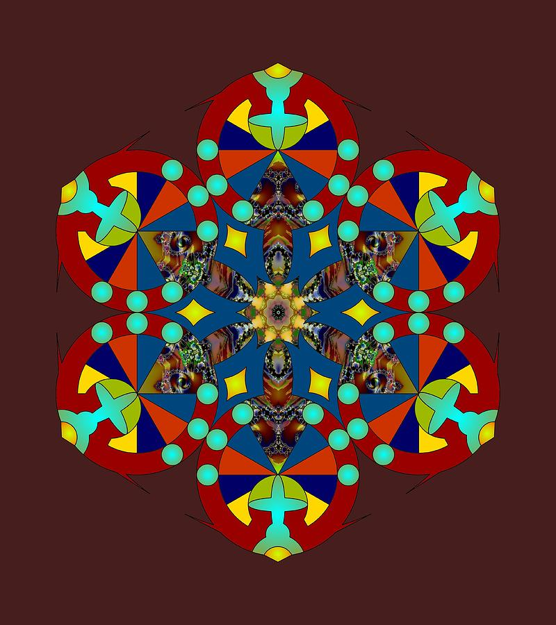 Psychedelic Mandala 007 A by Larry Capra