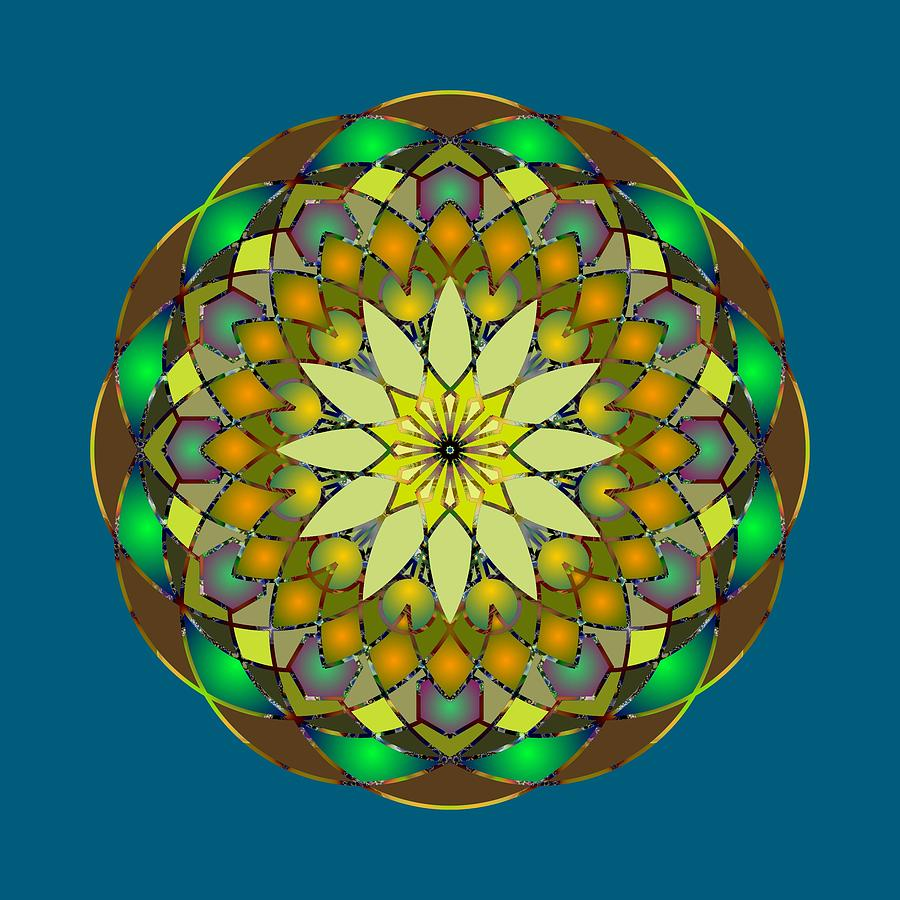 Psychedelic Mandala 008 A by Larry Capra