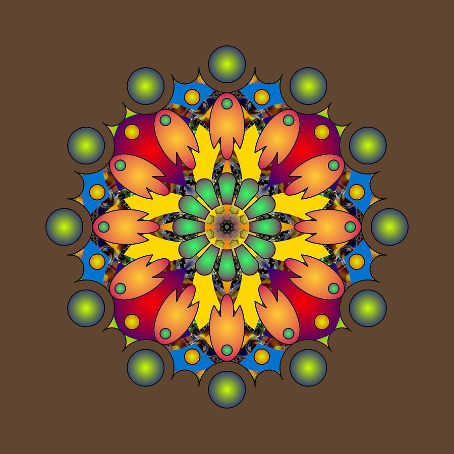 Psychedelic Mandala 009 A by Larry Capra