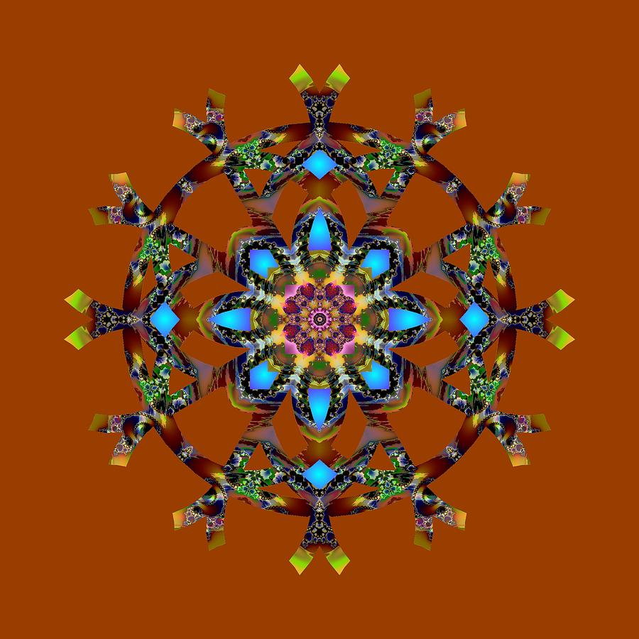 Psychedelic Mandala 010 A by Larry Capra