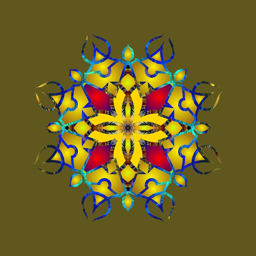Psychedelic Mandala 011 B by Larry Capra