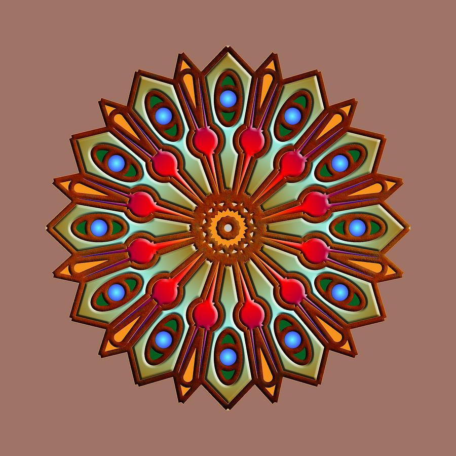 Psychedelic Mandala 012 A by Larry Capra