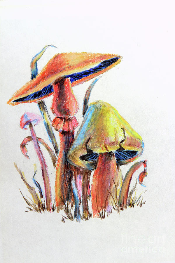 Psychedelic Mushrooms by Pattie Calfy