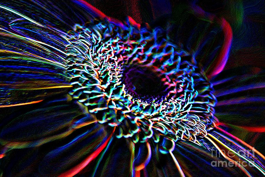 Psychedelic Photograph - Psychedelic Neon by Charles Dobbs