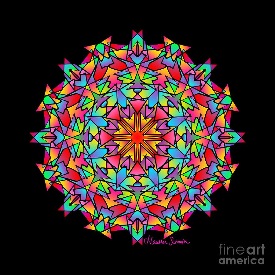 Psychedelic Porcupine Mandala by Heather Schaefer