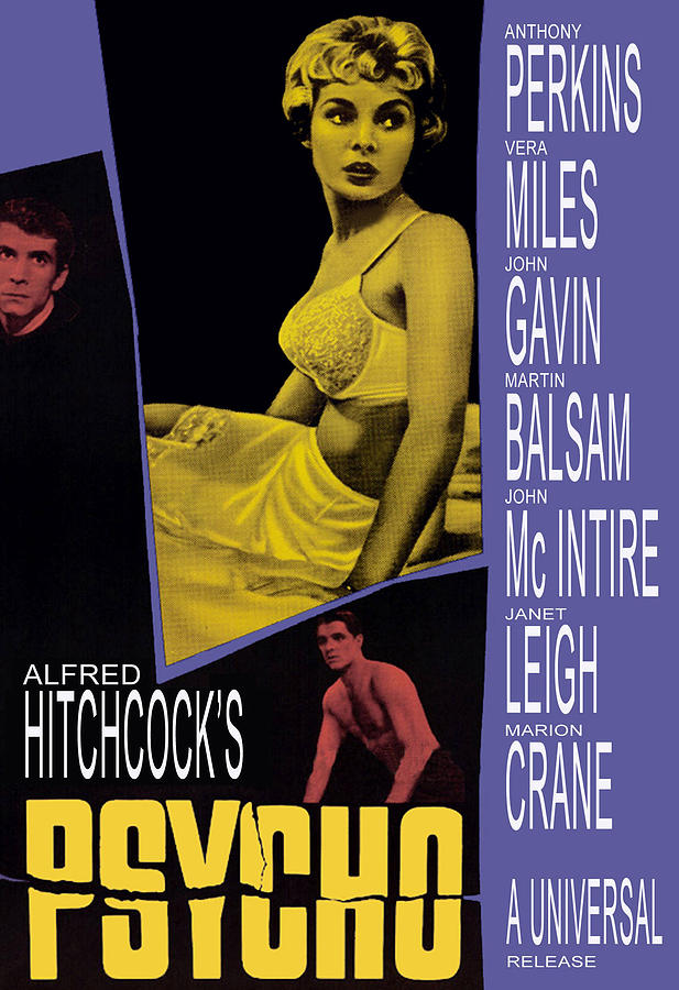 1960 Movies Photograph - Psycho, Anthony Perkins, Janet Leigh by Everett