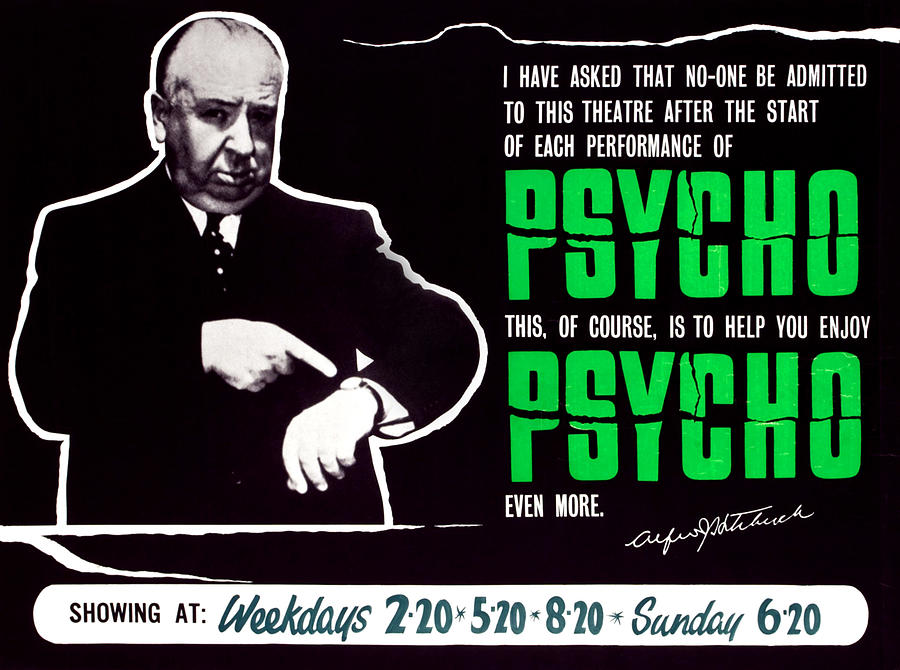 1960 Movies Photograph - Psycho, Director Alfred Hitchcock by Everett