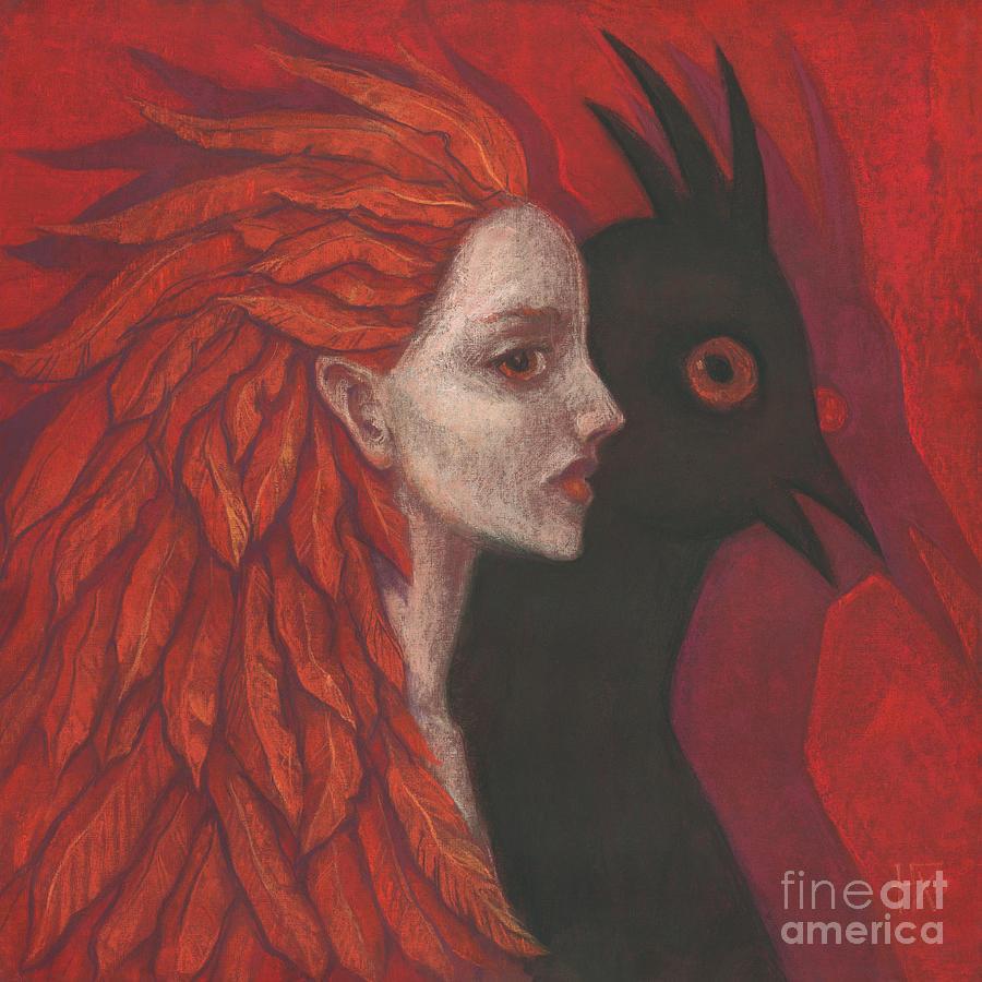 Woman Pastel - Psychopomp by Julia Khoroshikh