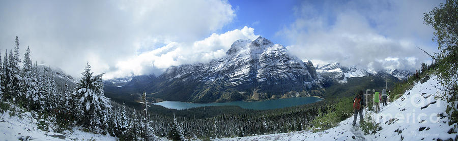 Glacier National Park Photograph - Ptarmigan Trail Overlooking Elizabeth Lake 5 - Glacier National Park by Bruce Lemons