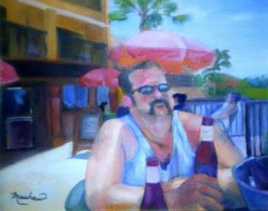 Daytona Painting - Pub by Sheila Mashaw