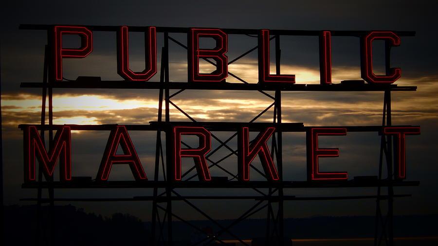 Pike Photograph - Public Market by Eddie G