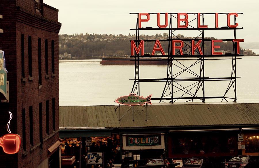 Seattle Photograph - Public Market by Kerry Langel