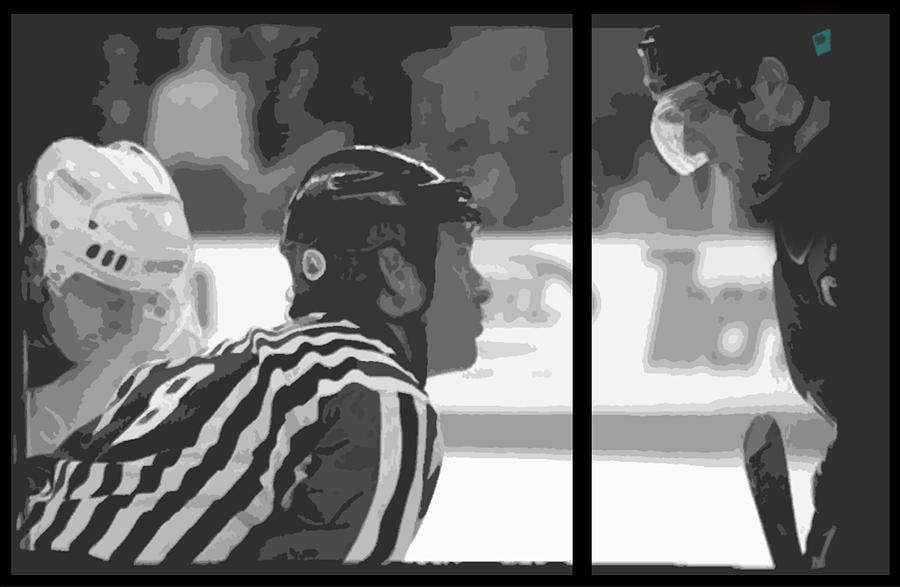 Ice Hockey Photograph - Puck Drop by Lucas Armstrong