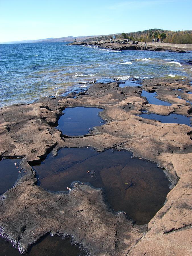 Lake Superior Photograph - Puddles by Jessica Yudis