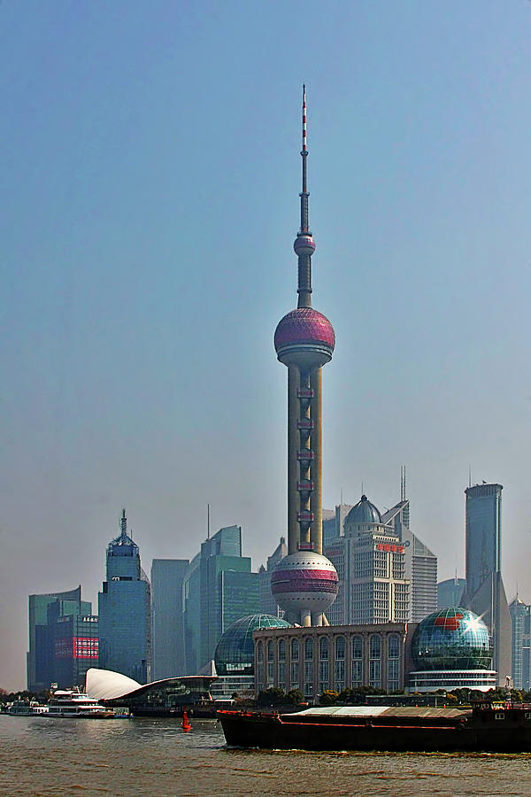 China Photograph - Pudong Shanghai Oriental Perl Tower by Christine Till