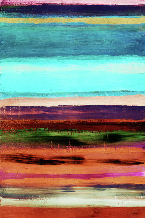 Abstract Mixed Media - Pueblo 2- Art By Linda Woods by Linda Woods